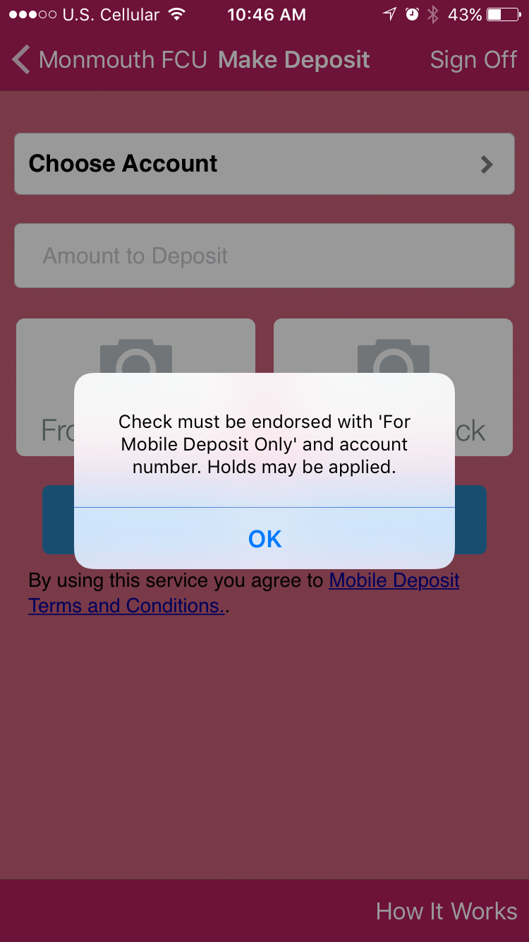 monmouth mobile deposit capture