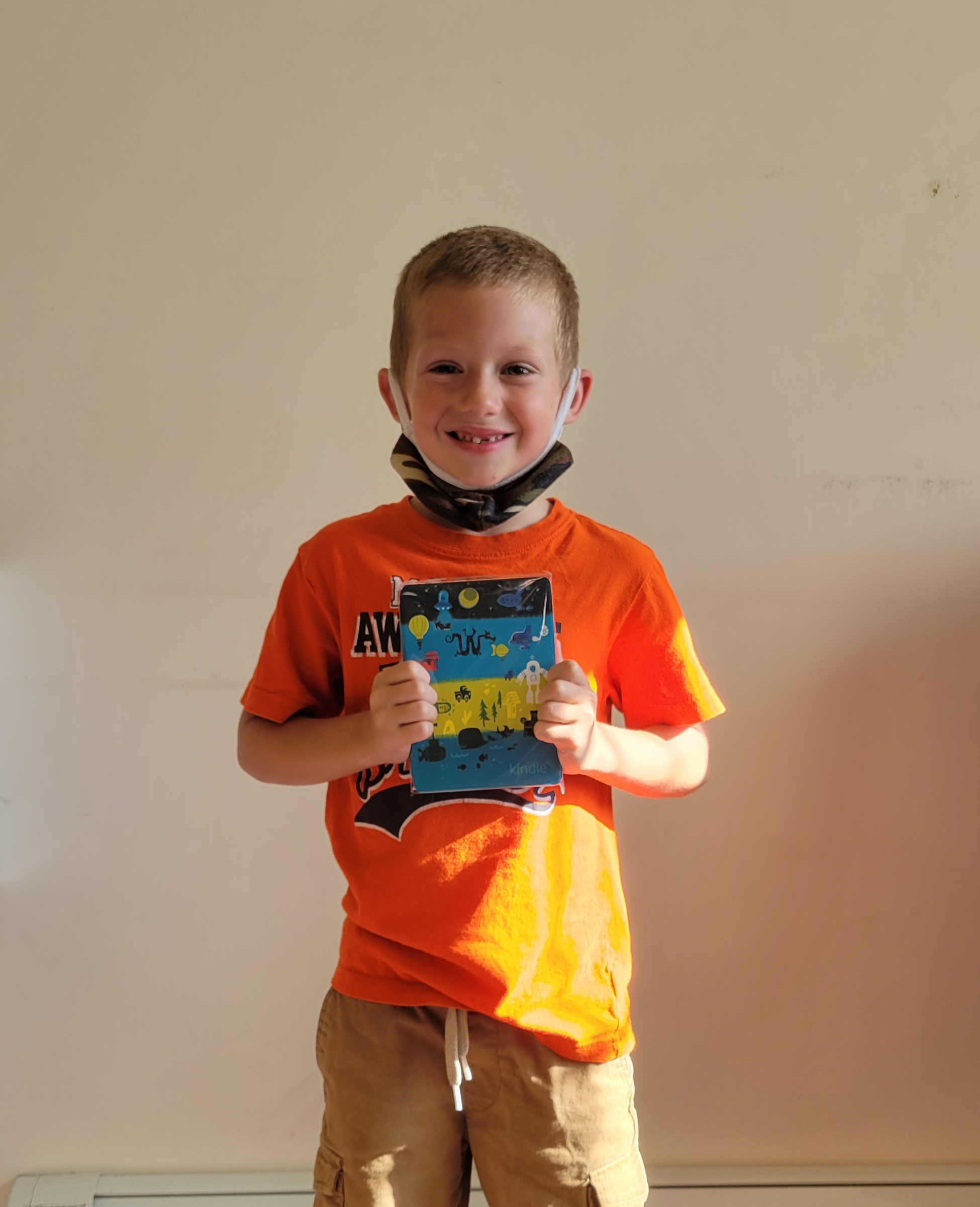 Wyatt is this year's winner of our Kid's Edition Kindle as part our youth program and back to school promotion.